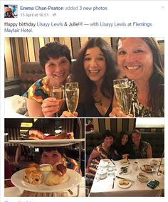 Some great photos from our guests enjoying afternoon tea! #BirthdayAfternoonTea #Champagne #HappyBirthday