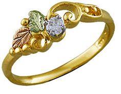 Ladies Black Hills Gold Diamond Engagement Ring