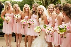 Pretty In Pink / Pink Bridesmaid Dresses / Bridesmaids / Mike Larson Photography / #MikeLarson