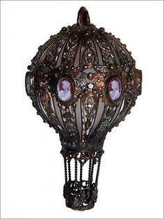 design steampunk Lamp light bulbs hot air balloon upcycled steam punk recycled art steampunk tendencies
