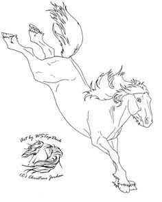 Nice Horse Jumping Coloring Pages 26 I love the giant