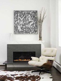Chelsea-Atelier - Lew Loft - Fireplace  Love this fireplace!!!  -  Interior Design - Home Decor - #design #decor #interiordesign
