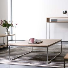 Ethnicraft Oak Thin Coffee Table