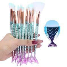 Eyeshadow Brush Set, Eyebrow Brush, Makeup Brush Set, It Cosmetics Brushes, Makeup Cosmetics, Mermaid Brush Set, Daily Makeup, Brush Kit, Mermaid Makeup