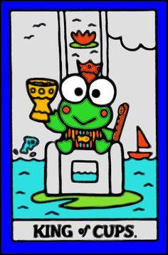 Hello Kitty Tarot - King of Cups