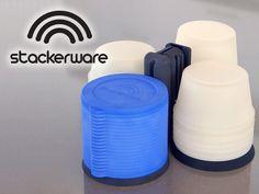 Stackerware: Space Saving, Clutter-Free Food Storage by Stephen Greenberg