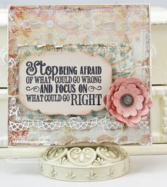 Stop Being Afraid by Westies - Cards and Paper Crafts at Splitcoaststampers