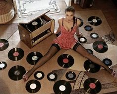 retro vintage modern hi-fi: Retro Hi-Fi Girl Friday