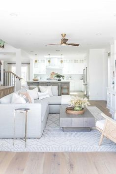 Home decor Eastside Costa Mesa — Pure Salt Interiors Top Five Reasons To Use Bamboo Flooring Bamboo Coastal Living Rooms, Living Room Grey, Home Living Room, Living Room Designs, Living Room Furniture, Living Room Decor, Living Room Stairs, Small Living Room Sectional, Coastal Cottage
