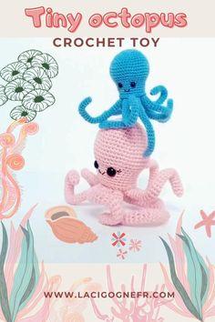 Nautical Home, Nautical Baby, Crochet Octopus, Amigurumi Toys, Diy Doll, Sea Creatures, Crochet Toys, Crochet Patterns, Baby Shower