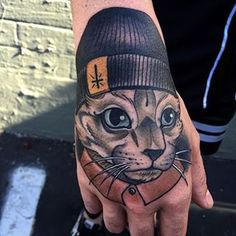 I need a gangster kitty by @primm_ #ink #inked #inkedanimals #tat #tattoo…