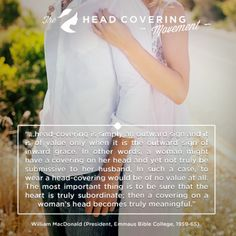 Head Covering Quotes | The Head Covering Movement