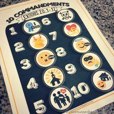 Ten Commandments Printable Memory Game Kids Activity