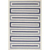 Found it at AllModern - Grant Ivory/Blue Geometric Indoor/Outdoor Area Rug