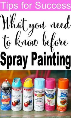 Spray-paint-questions-answered so you get a beautiful finish every time.