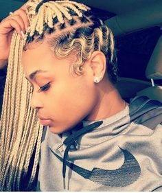 Blonde Box Braids And Finger Waves I Guess Thats One Way To Transition Out