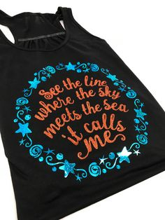 How Far Will You Go with these Moana Inspired shirts and tanks? I am Moana! Or, at least I wish I was. I am the first to admit that I'm a bit obsessed with Disney's latest animated film, but I just can't help it! Disney Shirts, Disney Outfits, Disney Clothes, Disney Fashion, Emo Outfits, Arte Disney, Disney Magic, Disney Style, Disney Love