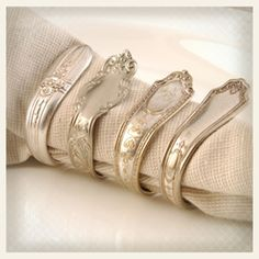 napkin rings made from spoons <3