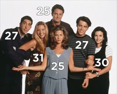 "The ages of the cast when the show premiered: | 25 Fascinating Facts You Might Not Know About ""Friends"""