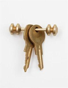 Postalco Abacus Totem Key Holder- Gold