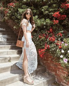 Steppin into the weekend like  Shop @shoptobi lace two piece lace set on my story  http://liketk.it/2vZ2i #liketkit @liketoknow.it        Trend Trendy Top Summer Clothes Makeup Outfits Shirts Shoes Pants