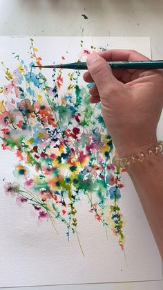 abstract watercolor floral painting by lindsay megahedYou can find Watercolor art for beginners and more on our website.abstract watercolor floral painting by lindsay megahed