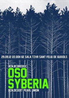 Gigposter for Oso + Syberia 2012
