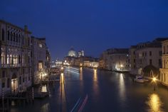 Canal Grande at night   by My Italian Sketchbook