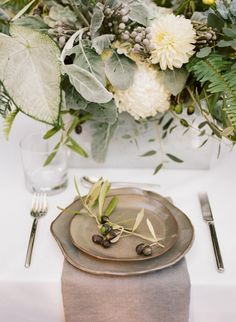 Organic industrial place setting