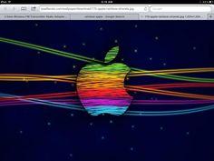 Rainbow apple logo