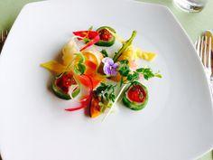 A colourful starter dish in Fukushima