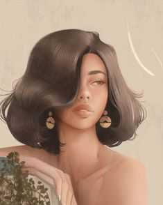 Digital Art Girl, Digital Portrait, Portrait Art, Arte Sketchbook, Cute Girl Drawing, Feminist Art, Pencil Art Drawings, Looks Cool, Aesthetic Art