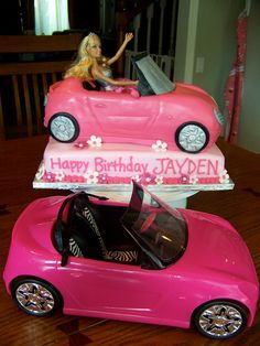 Yay !  I recovered my hard drive (Thanks, Matt!  You ROCK!)  So I found the rest of my Barbie cake photos.  See, it's really cake under...