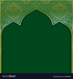 Background with golden patterned arched frame vector image on VectorStock Paisley Background, Poster Background Design, Theme Background, Ramadan Background, Vector Background, Background Patterns, Background Images, Islamic Art Pattern, Arabic Pattern