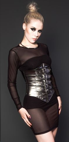 """""""Here at Ndulge we love statement pieces especially those that emphasize curves in style Cyborg Costume, Lip Service Clothing, Cyberpunk Clothes, New Years Outfit, Cybergoth, Future Fashion, Waist Cincher, Summer Tops, Clubwear"""