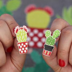 Check out these prickly pins! ✨ We're stocking a small amount of these cactus pins TONIGHT (Fri 4/6) so be sure to grab one (or the…
