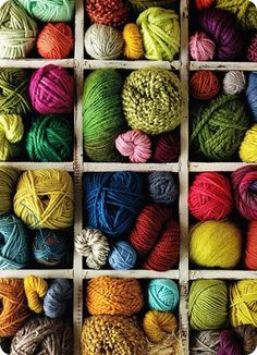 I'd love to store my yarn like this - yarn story style! Being able to display all of the colours would be great.