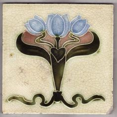 Victorian Antique Ceramic Tile: