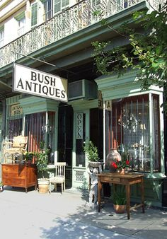 Bush Antiques on Magazine Street- really cute store and Magazine you could spend multiple days just moseying around.