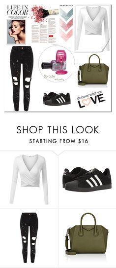 """""""Untitled #947"""" by teszter0528 on Polyvore featuring adidas, River Island and Givenchy"""