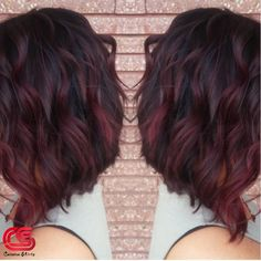 Burgundy Red Hair Color Ombre Style, Red, Red, Ombre, Balayage – All About Hairstyles Red Burgundy Hair Color, Red Violet Hair, Violet Hair Colors, Red Ombre Hair, Hair Color And Cut, Color Red, Burgundy Balayage, Ombre Burgundy, Ombre Balayage