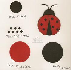 Cette coccinelle a été créée avec des punches ronds de différentes tailles. (Punch Art - Circles)