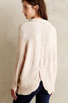 Scalloped Cocoon Cardigan - by Sunday in Brooklyn. have this one. anthropologie.com