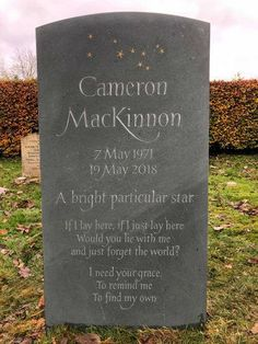 Headstones for graves: 10 stunning designs Cemetery Monuments, Cemetery Art, Grave Headstones, Headstones For Graves, Setting Up A Charity, Beautiful Lettering, Memorial Stones, In Loving Memory, How To Raise Money