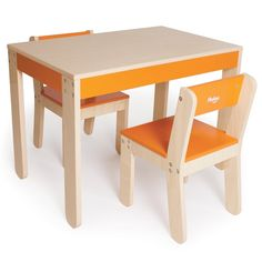 Children Little One's Table and Chairs - Orange - Pkolino -  PKFFTCORG