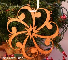Bass Clef Musical Snowflake Laser Cut Ornament by TheLaserPlace