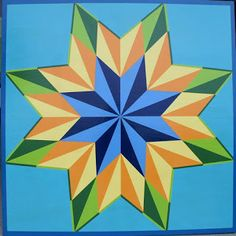 Swanton Arts Council Created by Spencer & MacKenzie Hutchins  Barn Quilt Challenge #SAC #art #barnsquare #barnquilt