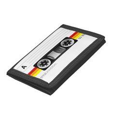 Warm color cassette tape wallet