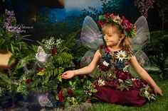 Burgundy Fairy Costume size 3 girl for by Fairy Photography on Etsy