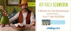 Gewinnspiel Petterson & Findus - zum Start des DVD und Blu-ray-Verkaufs. Jetzt mitmachen auf facebook. https://www.facebook.com/babywalz Teilnahmeschluss 01.10.2014